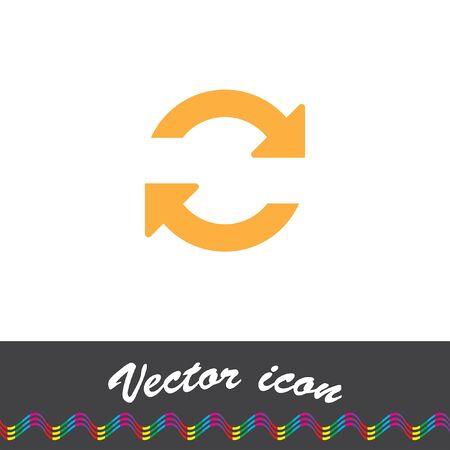 refresh: refresh vector icon Illustration