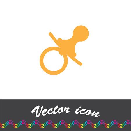 babysitting: pacifier nipple vector icon