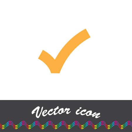 right choice: ok sign checkmark vector icon