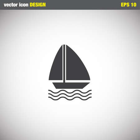 sailboat: sailboat vector icon