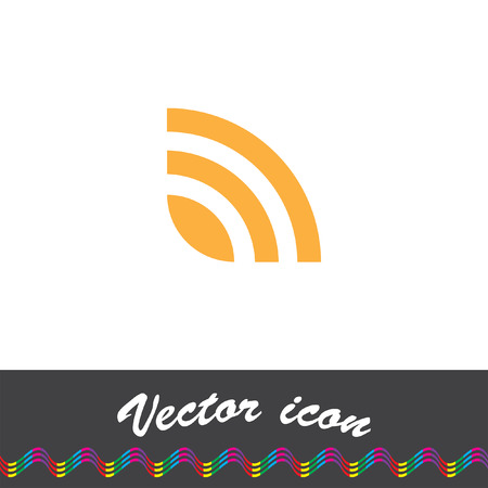 rss: rss news feed vector icon