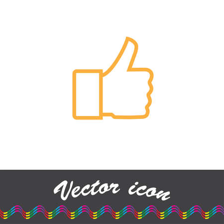 confirmed: thumb up vector icon