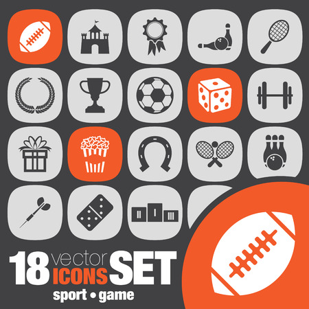 box weight: sport game icon set