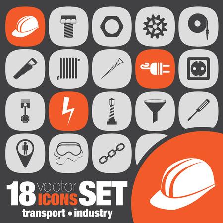 fire plug: transport industry icon set Illustration