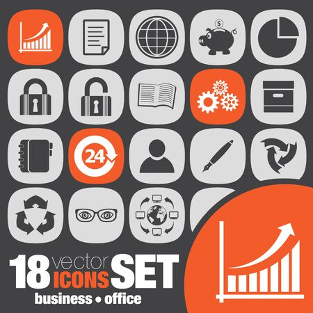 icon set: business office icon set