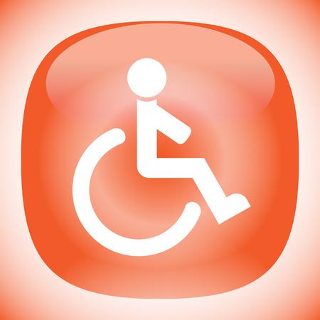 wheelchair vector icon Vector