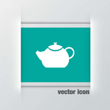 creamer: teapot vector icon Illustration