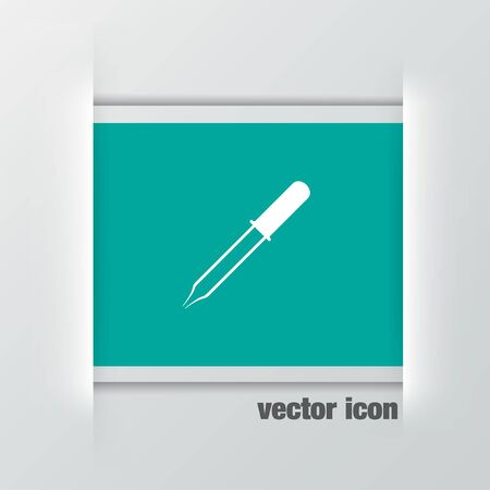 pipette: pipette vector icon