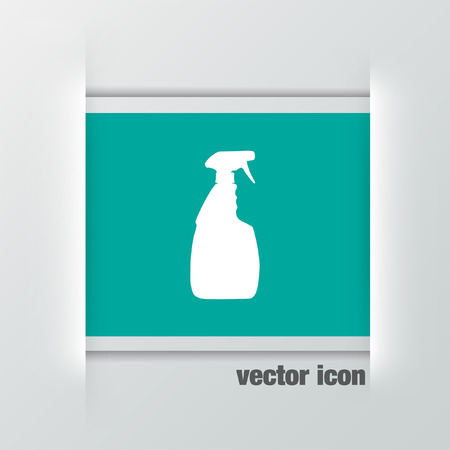household cleaning bottle vector