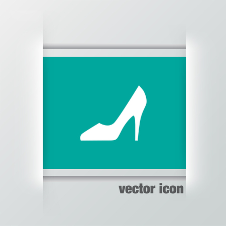 heel: woman shoes vector icon Illustration