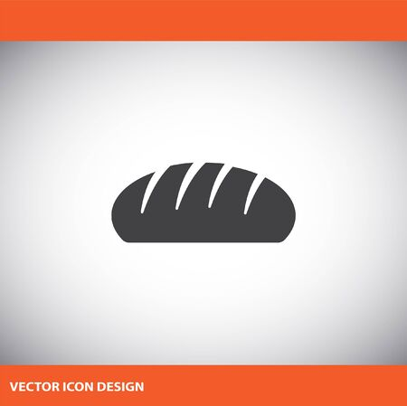 loaf of bread: bread vector icon