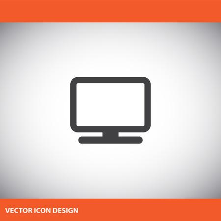 monitor de computadora: icono de monitor de la computadora Vectores