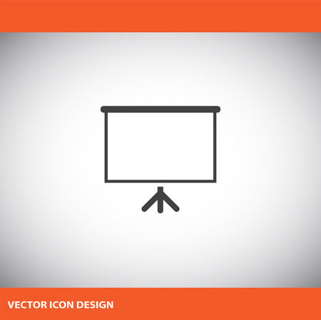 presentation board: presentation board vector icon
