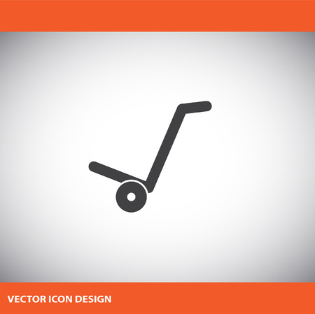 relocation: manual cart vector icon