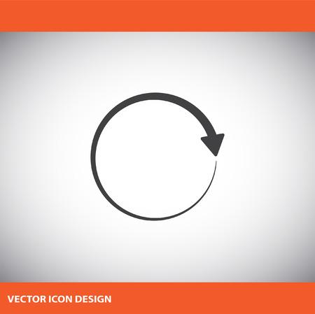 circular arrow vector icon