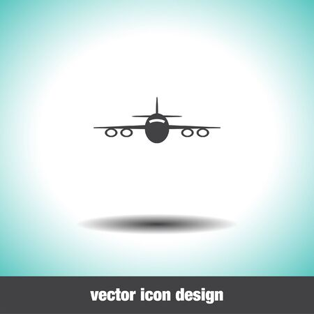airplane icon: airplane vector icon