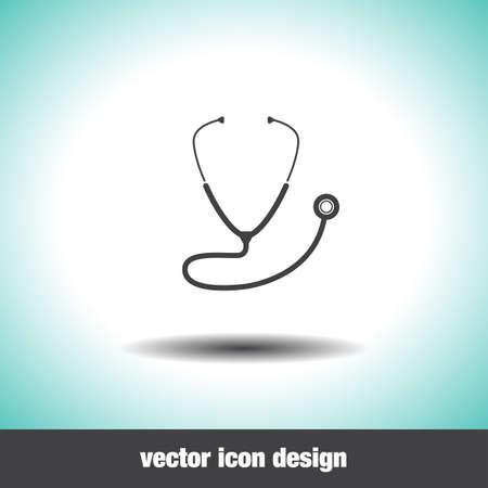 stethoscope isolated on white background: stethoscope vector icon