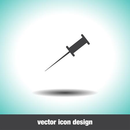 tack: pushpin vector icon