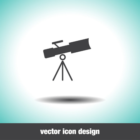 observations: telescope vector icon
