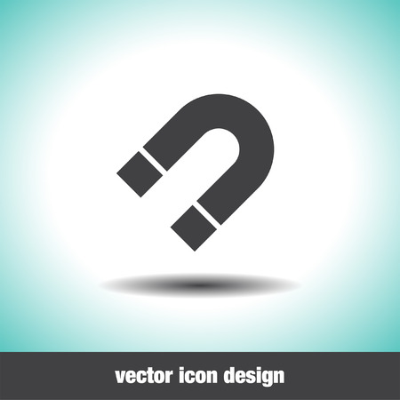 attract: magnet vector icon Illustration