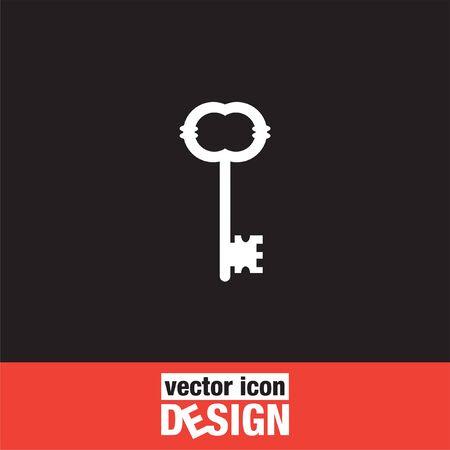 unlocking: key vector icon