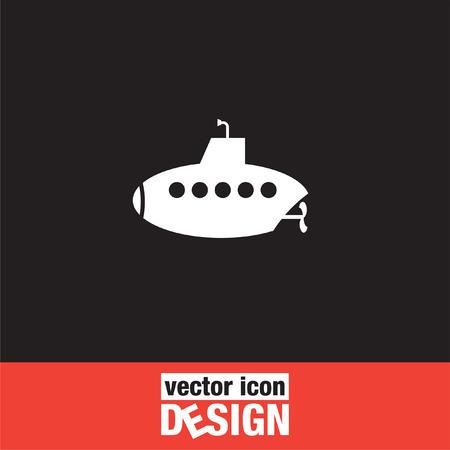periscope: submarine vector icon