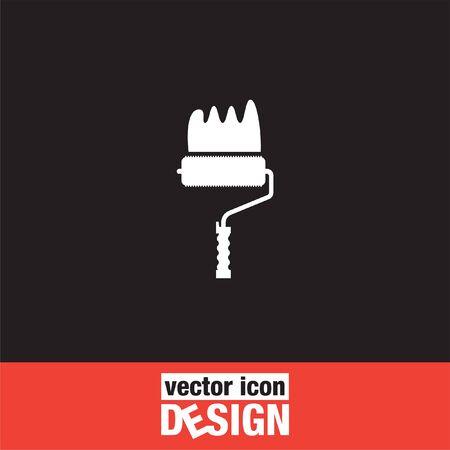 descriptive colours: painting roller vector icon