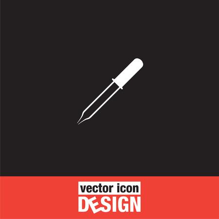 pipette: icono de vector pipeta
