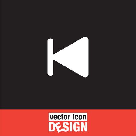 backward: fast backward next track button vector icon
