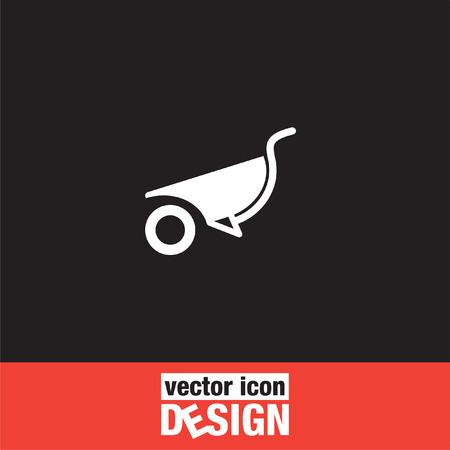 carretilla: icono de vector carretilla Vectores
