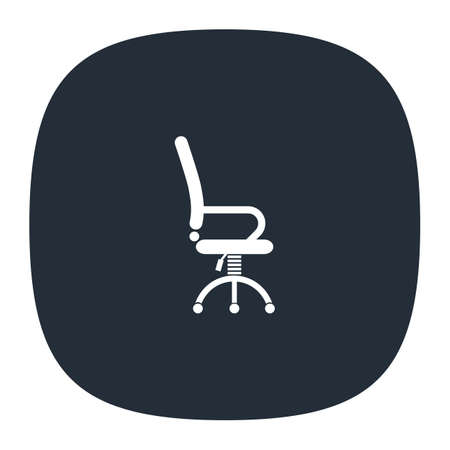 office work chair vector icon Illustration