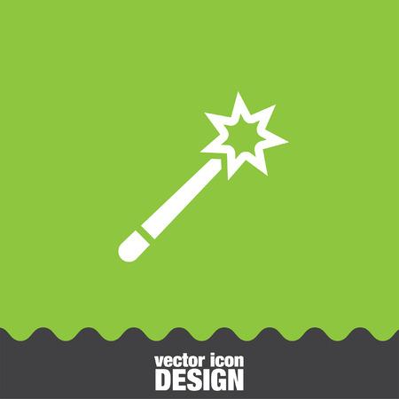 miraculous: magic wand vector icon