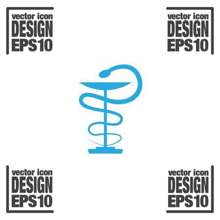 medics: pharmacy snake symbol vector icon
