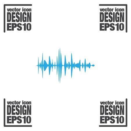 amplifiers: audio signal vector icon Illustration