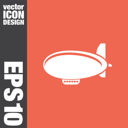 airship: airship zeppelin vector icon Illustration