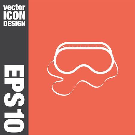 arbeidsveiligheid bril vector icon