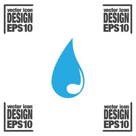 kropla deszczu: upuścić ikonę wektor Ilustracja