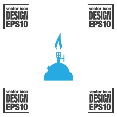 burner: laboratory burner vector icon