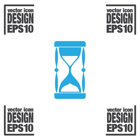 piasek: wektor ikony zegara piasku Ilustracja