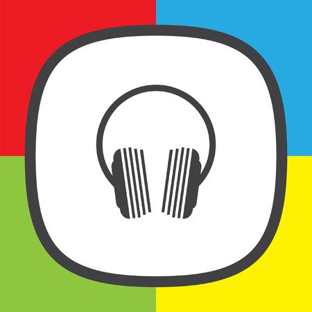 portable audio: music headphones logo icon design