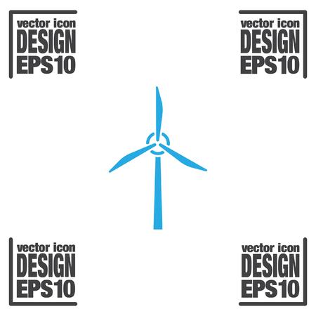 발전기: 풍력 발전기 벡터 아이콘