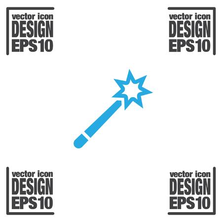miracles: magic wand vector icon