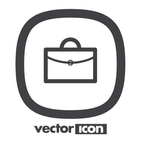 office work: briefcase vector icon logo design Illustration
