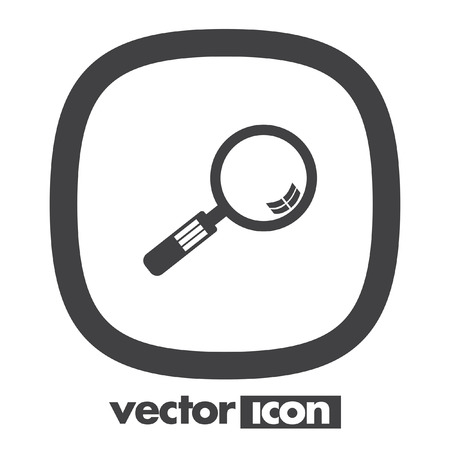magnifying glass vector icon Illustration
