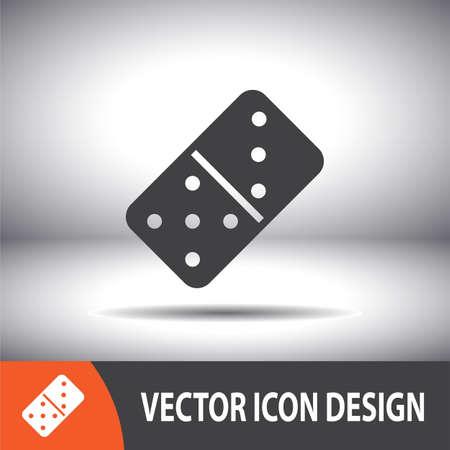 dominoes: dominoes vector icon Illustration