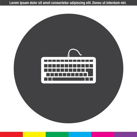 keyboard vector icon Illustration