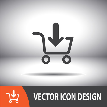shopping cart online shop: add to shopping cart vector icon
