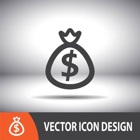 moneybag: bag with money vector icon