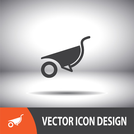 carretilla: icono de vector carretilla Vectores