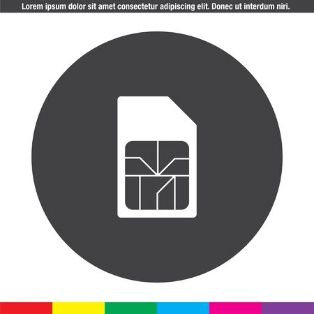 sim: sim card vector icon